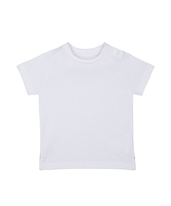 Mothercare White Logo T-Shirt