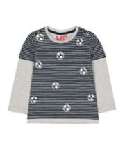 Mothercare Navy Mock Sleeve T-Shirt