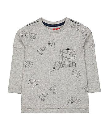 Mothercare Grey Football Bear T-Shirt