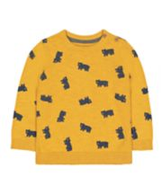 Mothercare Yellow Bears Statement Knit Jumper