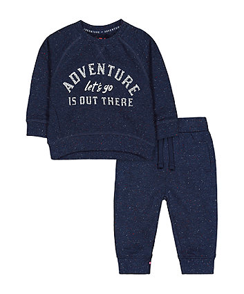 Mothercare Navy Adventure Sweat Top And Joggers Set