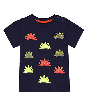 Mothercare Navy Sequin Dinosaur T-Shirt