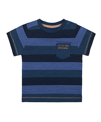 Mothercare Navy Stripe Adventure T-Shirt