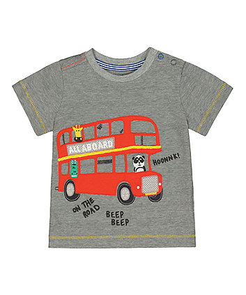 Mothercare Animal Double-Decker Bus T-Shirt