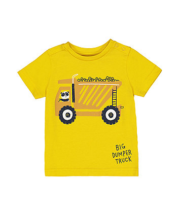 Mothercare Yellow Panda Dumper Truck T-Shirt