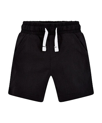 Mothercare Black Jersey Shorts