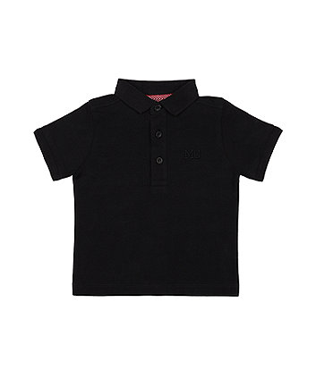 Mothercare Black Polo Shirt