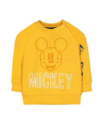 Mothercare Disney Mickey Friends Mustard Sweat Top