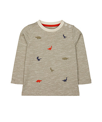 Mothercare Green Embroidered Dinosaurs T-Shirt