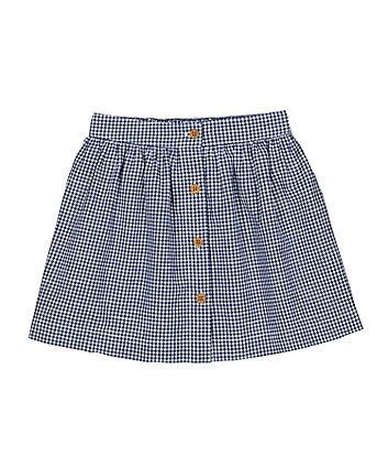 Mothercare Blue Gingham Skirt