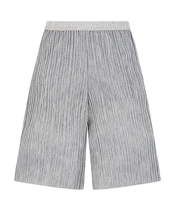 Mothercare Sparkly Silver Lurex Plisse Culottes