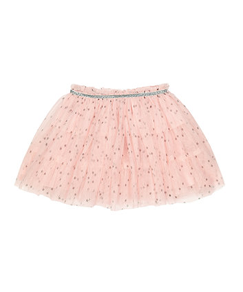 Mothercare Pink Stars Mesh Skirt