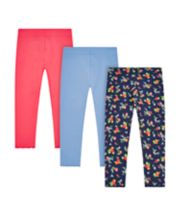 Mothercare Floral Ruched Leggings - 3 Pack