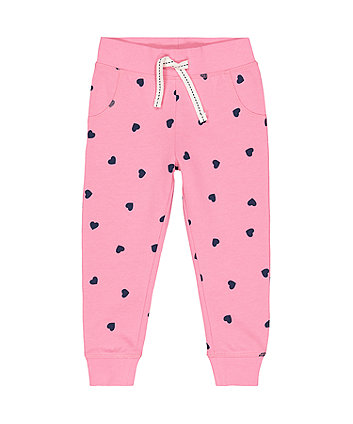 Mothercare Pink Navy Heart Joggers