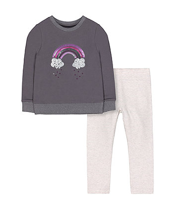 Mothercare Sequin Rainbow Top And Leggings Set