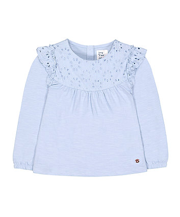 Mothercare Blue Broderie T-Shirt