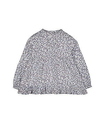Mothercare Blue And White Floral Blouse
