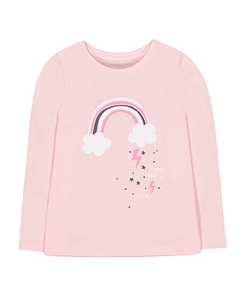 Mothercare Pink Rainbow Electric Mood T-Shirt