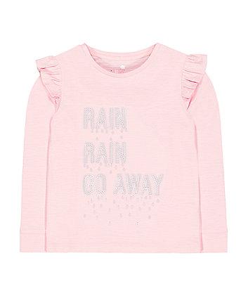 Mothercare Pink Sequin Rain Go Away T-Shirt