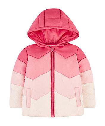 Mothercare Pink Chevron Fleece-Lined Jacket