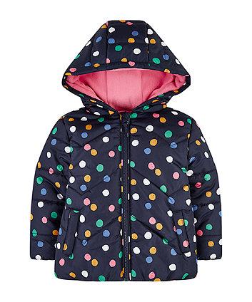 Mothercare Navy Spotty Fleece-Lined Jacket