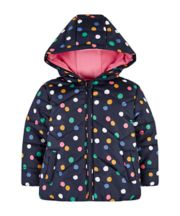 Mothercare Navy Spotty Fleece-Lined Jacket