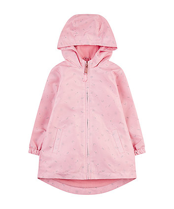 Mothercare Pink Star Fleece-Lined Mac