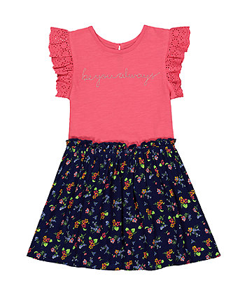 Mothercare Floral Be You Twofer Dress