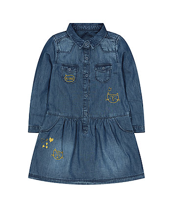 Mothercare Leopard Denim Dress