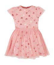 Mothercare Mesh Layer Heart Twofer Dress