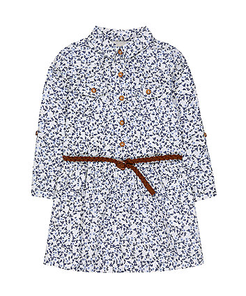 Mothercare Floral Cord Shirt Dress