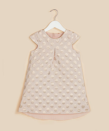 Mothercare Pink Gold-Foil Spot A-Line Dress