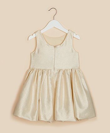 Mothercare Sparkly Gold Waisted Prom Dress