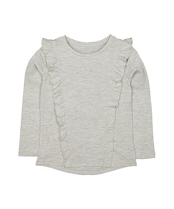 Mothercare Grey Frill T-Shirt