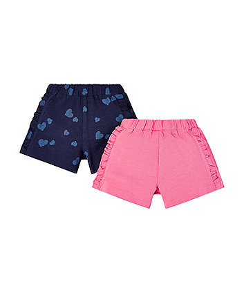 Mothercare Love Heart Shorts - 2 Pack