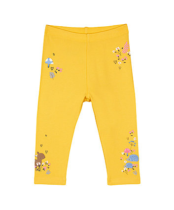 Mothercare Graphic Leggings - Yellow
