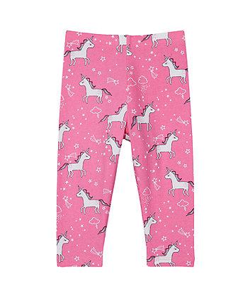 Mothercare Pink Unicorn Leggings