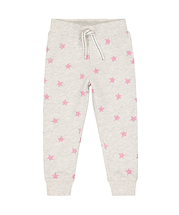 Mothercare Grey Glitter Star Joggers