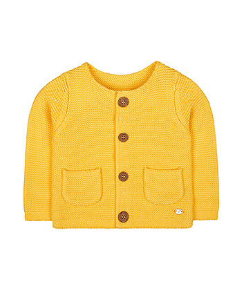 Mothercare Knitted Cardigan - Yellow