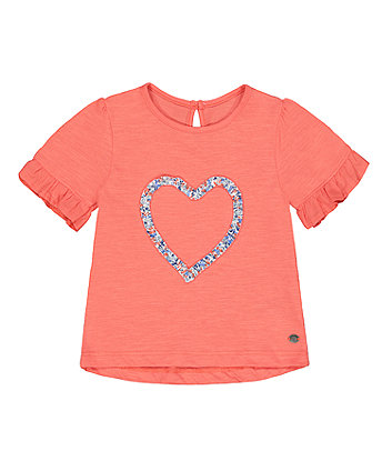 Mothercare Coral Heart T-Shirt