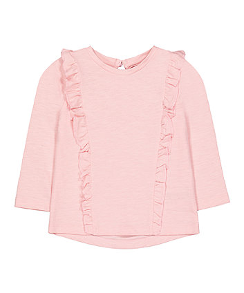 Mothercare Pink Frill T-Shirt