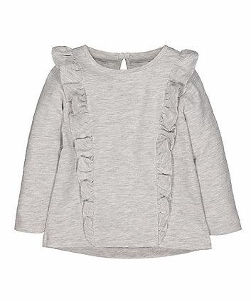 Mothercare Grey Frill T-Shirt