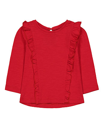 Mothercare Red Frill T-Shirt