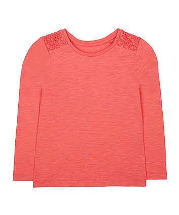 Mothercare Coral Crochet T-Shirt