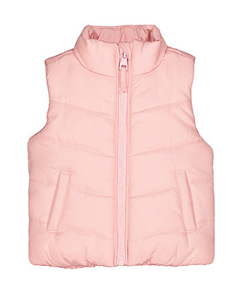 Pink Fleece-Lined Gilet