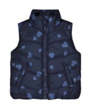 Navy Heart Fleece-Lined Gilet