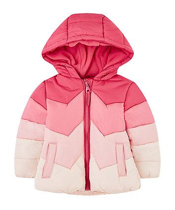 Pink Chevron Fleece-Lined Jacket
