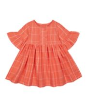 Mothercare Coral Check Woven Dress