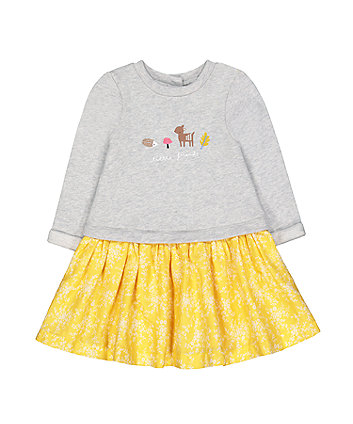 Mothercare Woodland Animal Friends Twofer Dress
