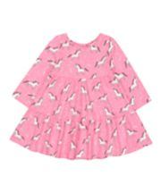 Mothercare Pink Unicorn Tiered Dress